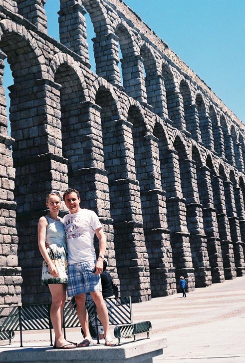 The aqueduct in Segovia